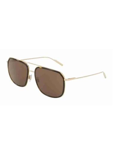 Dolce&Gabbana Dolce&Gabbana 2165 132673 58 Kare Çerçeveli Camlı Erkek Güneş Gözlüğü Altın